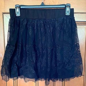 Rue 21 Black Lace Skirt Size Medium